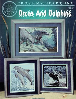 CROSS STITCH PATTERN BOOK **ORCAS and DOLPHINS** 7 x LOVELY DESIGNS