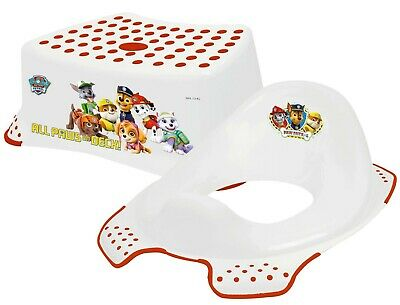 Paw Patrol - Non Slip Up Step Stool & Universal Toilet Training Seat Combo