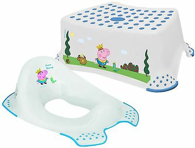 Peppa Pig - Prince George Step Stool & Toilet Training Seat Combo