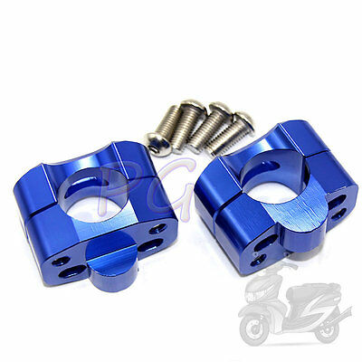 "Taper handlebar 11/8"" to 7/8"" Blue Universal Bar Clamps PIT BIKE"