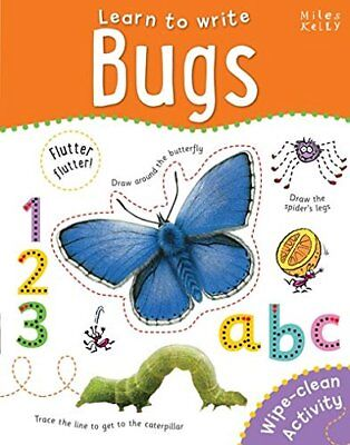 Learn to Write Bugs (Wipe Clean book) PEN INCLUDED!!!!!