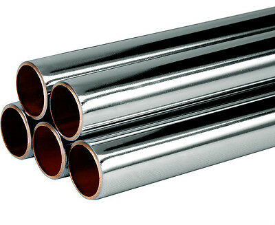 15mm Chrome Plated copper Pipe, cut To Length, Free P&P