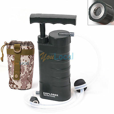 Portable Outdoor Soldier Water Filter Purifier Nanofiltration Hiking Camping Bag