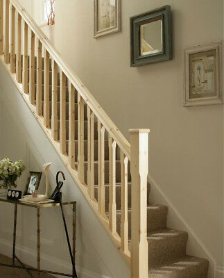 Cheshire Mouldings Stop Chamfered Newel Post | 90 x 90 x 1495mm Stairs Rail PINE