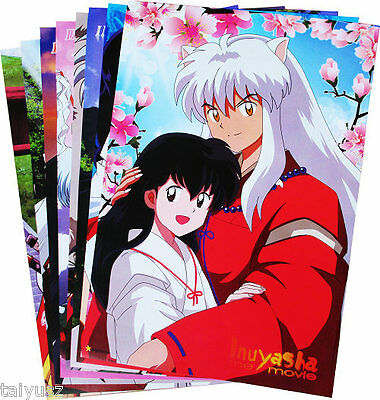 8PC/Set Inuyasha Paper Poster Kids Gift Anime Wall Posters Home Decro