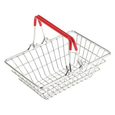 1x Mini Supermarket Shopping Hand Basket Kids Pretend Play Toys Gift Red S