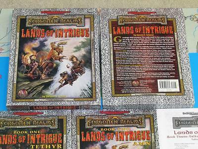 LANDS OF INTRIGUE VF! Forgotten Realms Box Set Complete TSR Dungeons & Dragons