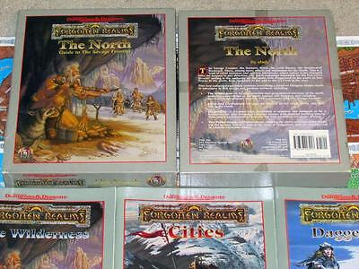 THE NORTH EXC+! Forgotten Realms Box Set 100% Complete Dungeons & Dragons AD&D