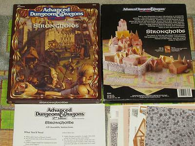 STRONGHOLDS EXC+ UNCUT AD&D Box Set TSR 9353 Dungeons & Dragons 3D Accessory