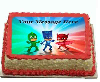 Edible Cake Images Qld : PJ Mask Cake topper edible image icing A4 REAL FONDANT ...