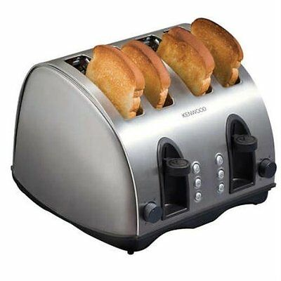 Kenwood 4 Slice Brushed Steel Toaster TTM406