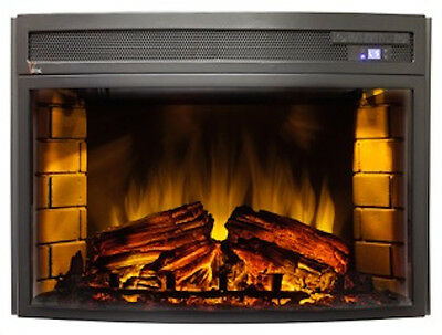 """RV Fireplace 24"""" Curved Front LED Electric With Remote"""