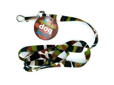 Camouflage Pattern Dog Leash 4 foot with Metal clip