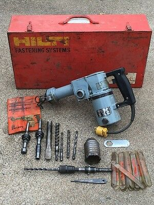 Vintage Hilti Torna 765 Rotary Hammer Drill w/Metal case and bits-Manual