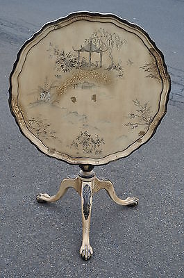 Chinese Chippendale Style Tilt Top Table With Ball & Claw Feet