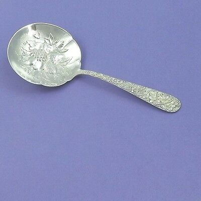 Victorian Kirk & Son Sterling Silver Repousse Pattern Nut Spoon 5-1/4""