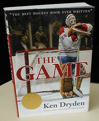 """VINTAGE SIGNED 20th ANNIVERSARY """"THE GAME"""" by KEN DRYDEN"""