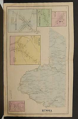 New York, Herkimer County Map, 1868 Town of Russia P3#02