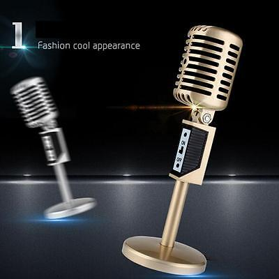 3.5mm Wired Professional Condenser Podcast Studio Microphone Mic & Stand Base