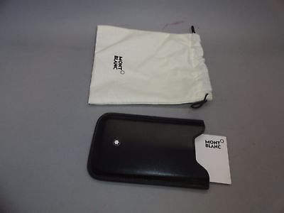 Montblanc Credit Card Business Card Leather Holder Case Pouch Sleeve Italy Made