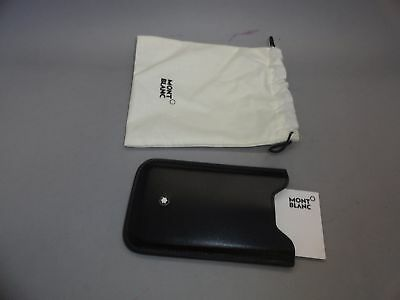NEW Montblanc Credit Business Card Leather Case Pouch Sleeve Black Made In Italy