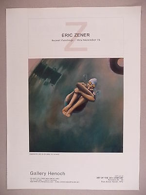 Eric Zener Art Gallery Exhibit PRINT AD - 2002