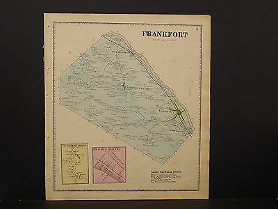 New York, Herkimer County Map, 1868 Town of Frankfort P3#15