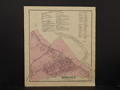New York, Herkimer County Map, 1868 Town of Mohawk P3#21