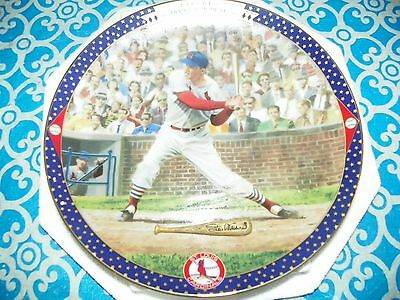 Bradford Exchange 1995 Stan Musial 3000Th Hit Collector Plate Cardinals Coa -X21