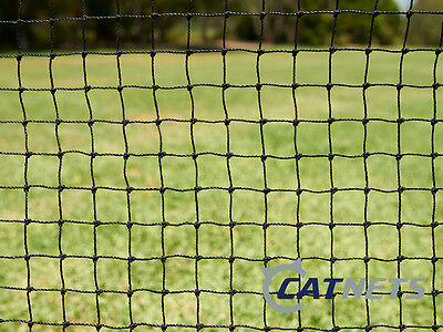 Cat Enclosure Netting  20m x 1.8m Low-Vis 19mm - FREE SHIPPING