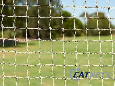 Cat Enclosure Netting  10m x 3m Low-Vis : STONE COLOUR - FREE SHIPPING