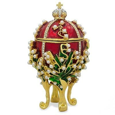 """1898 Lilies of the Valley Russian Faberge Egg 3.5"""""""