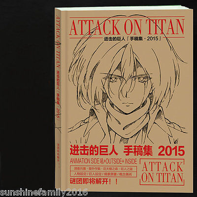 192 Pages Attack on Titan Anime Artbooks Paper Manuscript Hand Drawing Art Book