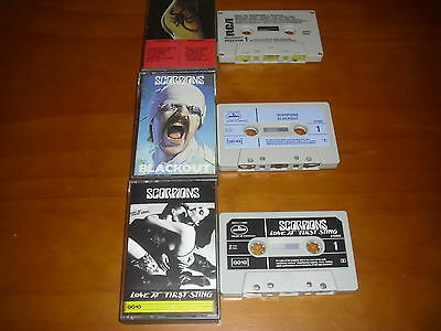 Lot Of 3 Scorpions Cassettes: Blackout, Love At First Sting, Best Of!