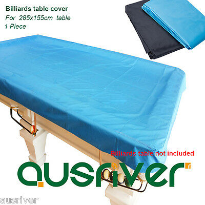 Brand New 9ft Dustproof Billiard Pool Table Cover Elastic Corners Black Blue