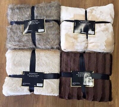 Supersoft luxury Faux Fur Throw Blanket 127CM x 152CM