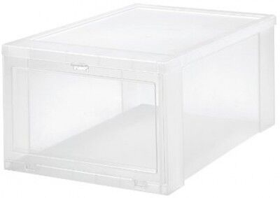 NEW Clear Drop-Front Shoe Box Stackable Sneaker Storage Bin 6-Pack LARGE