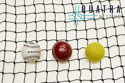 Black Cricket  Net / Sports Barrier Netting  15m x 3.6m : Ball Stop Net
