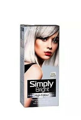 1 Mellor & Russell Simply Bright Cool Silver Permanent Hair Colour Dye