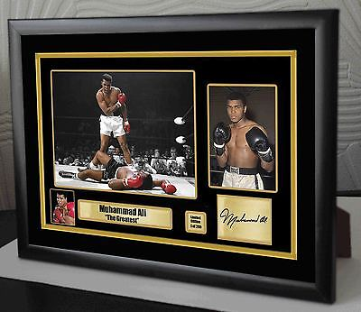 """Muhammad Ali """"The Greatest"""" Canvas Tribute Print Signed """"Great Gift & Souvenir"""""""