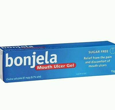 BEST PRICE! 3× BONJELA MOUTH ULCER GEL 15G - OzHealthExperts