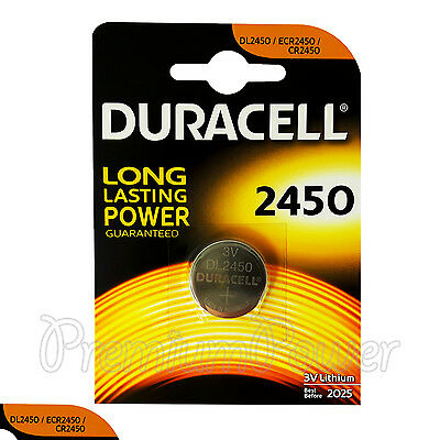 1 x Duracell Lithium CR2450 3V Coin Cell battery DL2450 ERC2450 EXP:2025