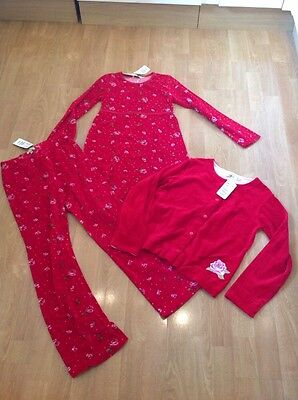 Gorgeous H&m  Girls 3 Piece Red Velvet Outfits Age 10 Yrs Bnwt