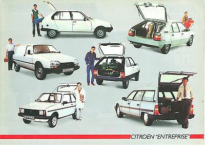 1986 Citroen Light Commercial Vehicles Brochure (French)