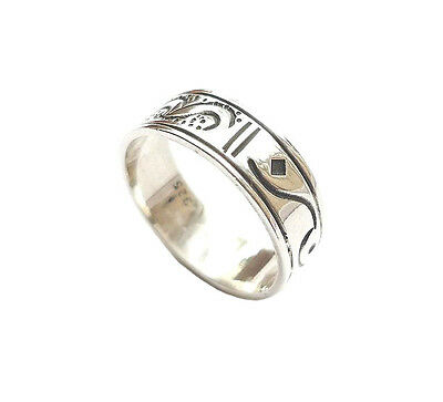 Sterling .925 Silver Dual-Patterned Ring, Size Q½ (US8¼) 18.5mm