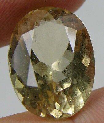 11.50ct or 2.30g Brazil Natural Clean Yellow Beryl Heliodor Oval Facet Gemstone