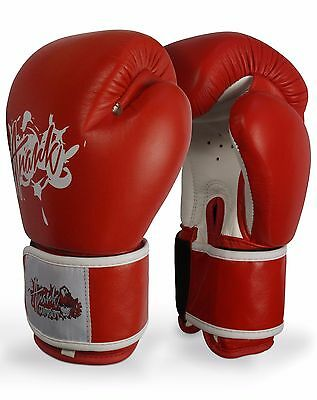ANARK™ Muay Thai Style Genuine Leather Boxing Gloves/ Sparring Gloves