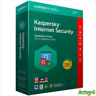 Kaspersky Internet Security 2019 1 PC 1Jahr VOLLVERSION / Upgrade 2020 DE