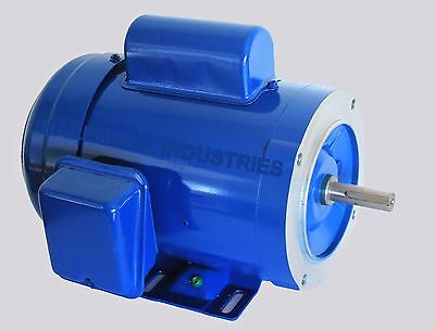 Ac Motor, 3/4Hp, 1725Rpm, 1Ph, 115V/208-230V,  56C/tefc, With Base