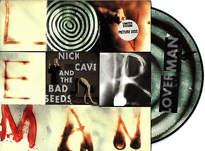 """NICK CAVE & THE BAD SEEDS loverman 7"""" PICTURE DISC UK limited edition 2000"""